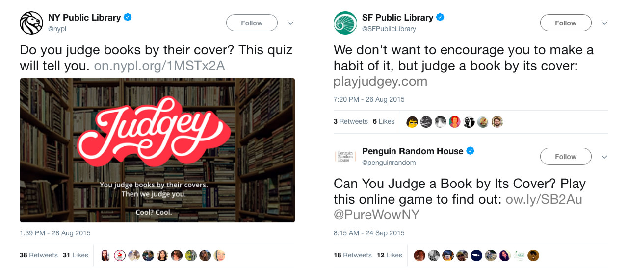 Notable tweets about Judgey